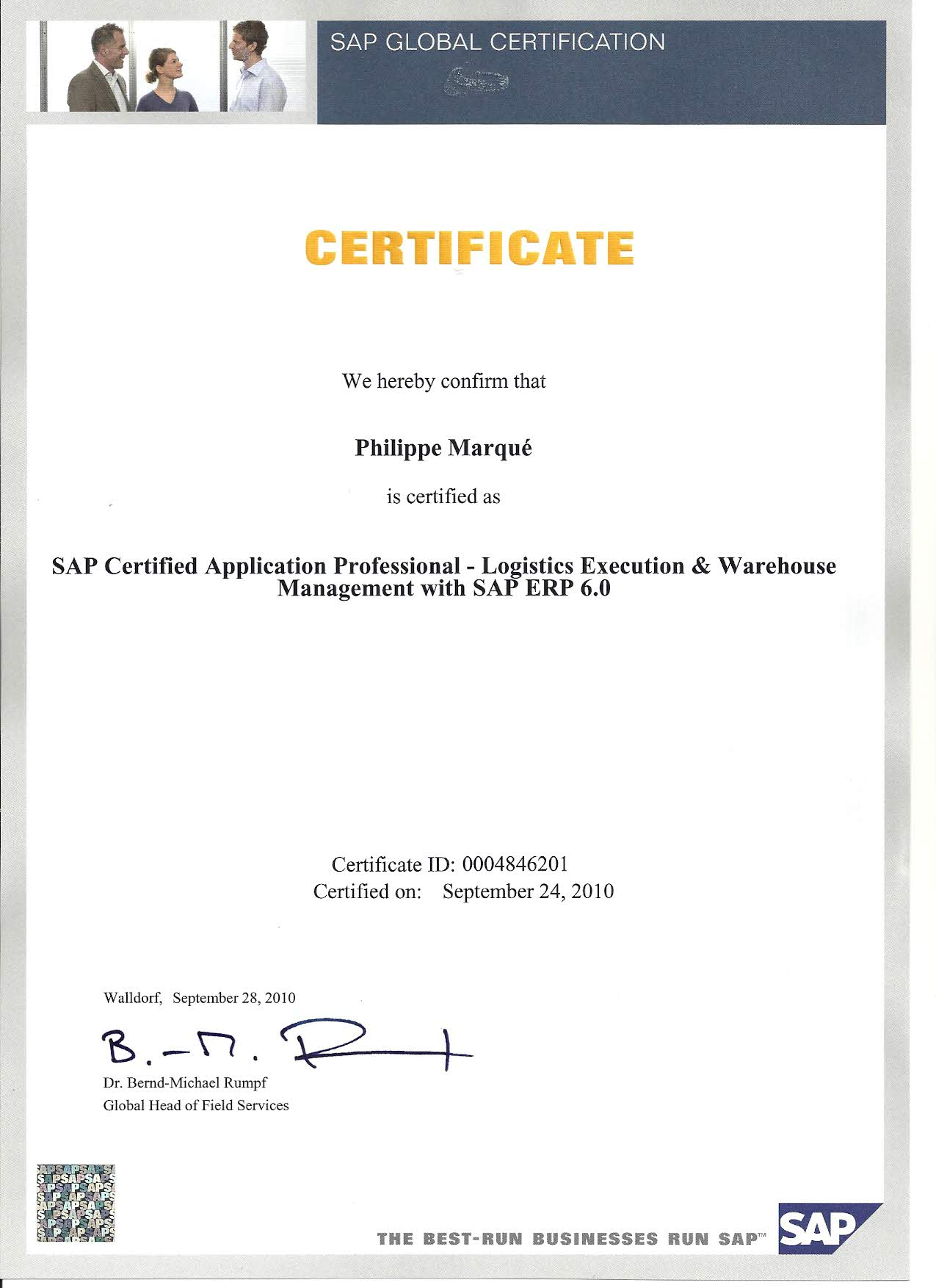 Certified SAP Professional WM LE
