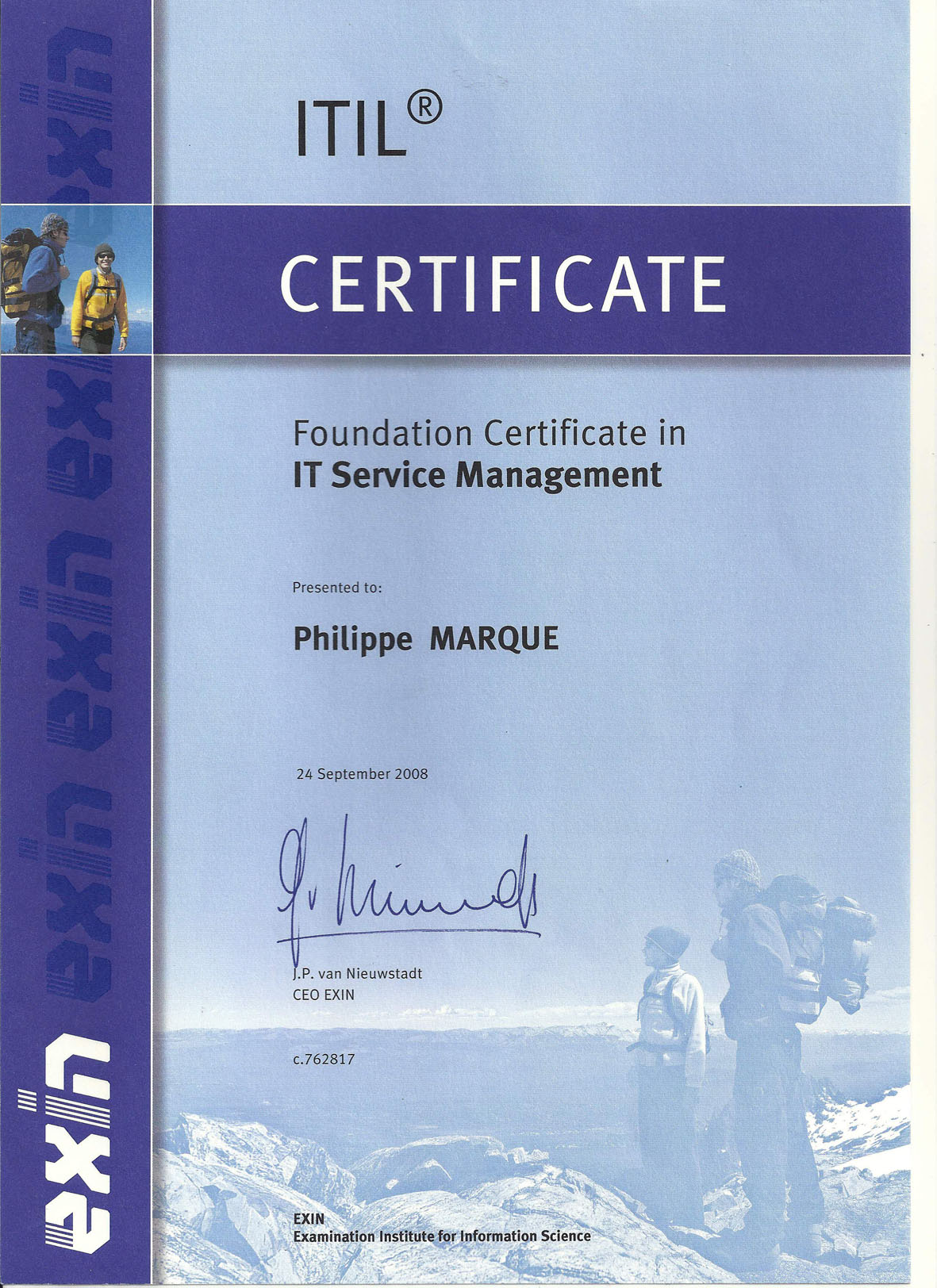 Certified ITIL Foundation